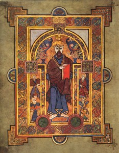 The Book of Kells Portrait of Christ